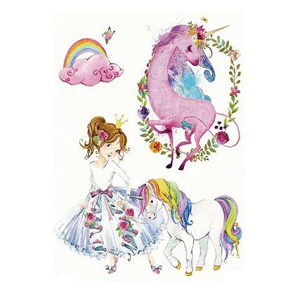 Girls unicorn temporary tattoo |חד קרן ילדות 1
