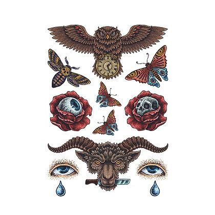 Mix animals eyes  tattoo | מיקס אימה עיניים