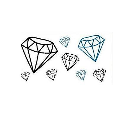 diamond mini temp tattoo /יהלומים קעקוע קטן