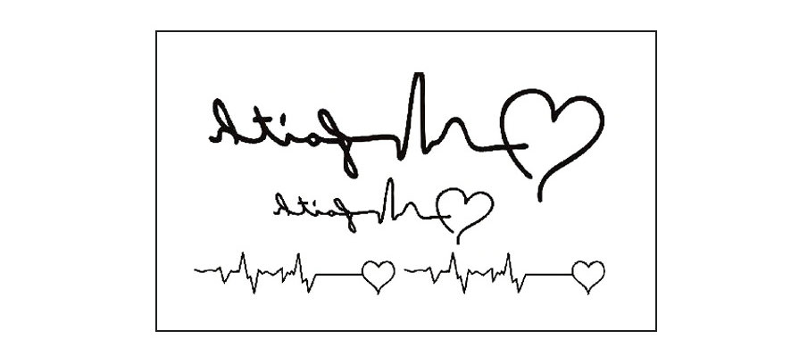Heart bitting / קעקוע פעימות לב