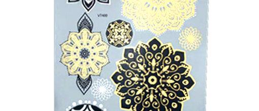henna mandala  קעקועי זהב חינה מנדלה