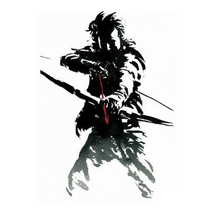Warrior1 temp tattoo   לוחם קשתות