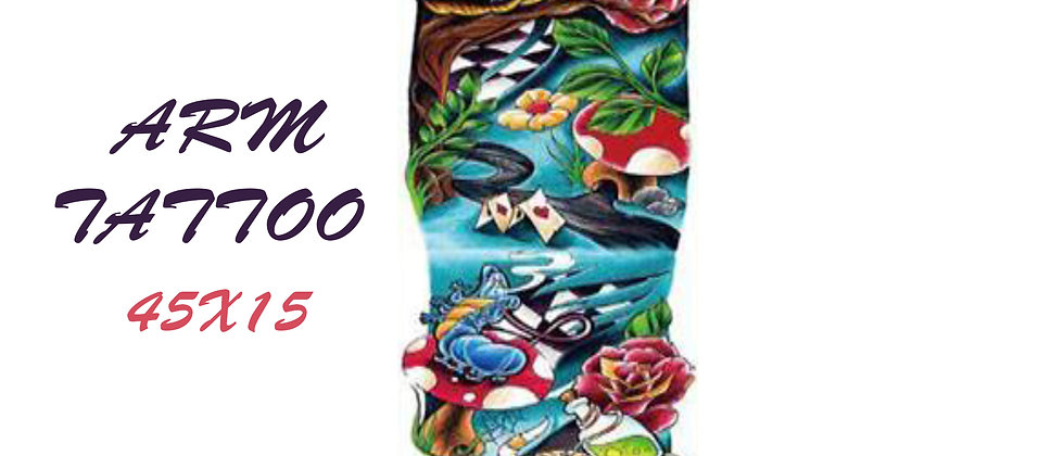 alice  sleeve tattoo   שרוול עליס מארץ הפלאות