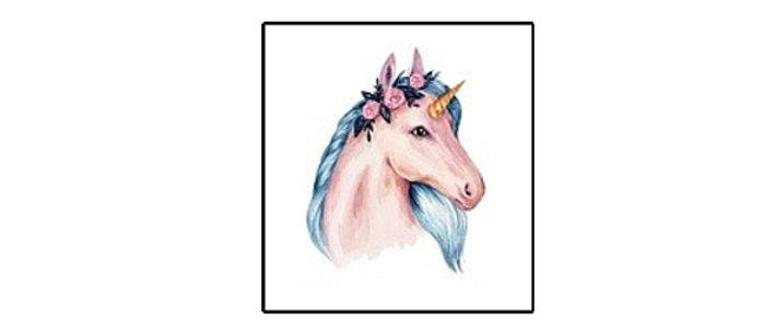 unicorn pink Temp tattoo | קעקוע זמני חד קרן3