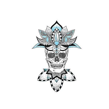 Mexican skull temp tattoo   קעקוע זמני גולגולת מקסיקנית