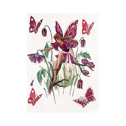 Fairy and butterflies temporary tattoo | קעקוע זמני פיה פרפרים
