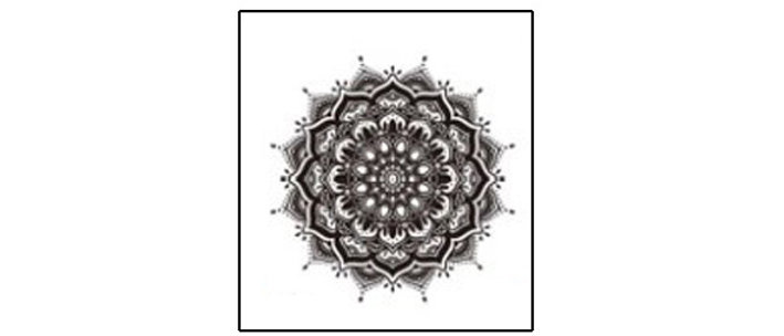 mandala2 temp tattoo | קעקוע זמני מנדלה