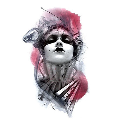 woman mask2 purim temp tattoo | 2אישה מסיכה