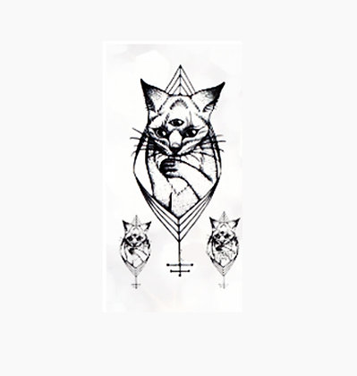 3 cats small temp tattoo |חתולים