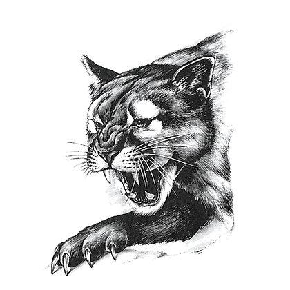 Puma temp tattoo| פומה שחורה