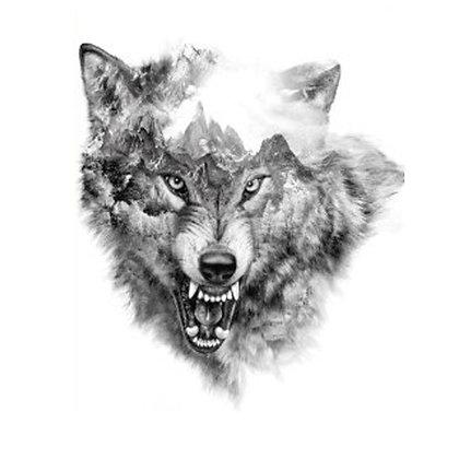 wolf tree temp tattoo | זאב עצים