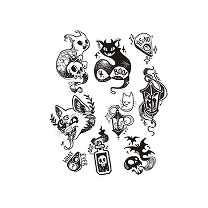 mix halloween temp tatto |  קעקוע האלווין