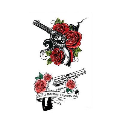 guns and roses temp tattoo   רובים ושושנים