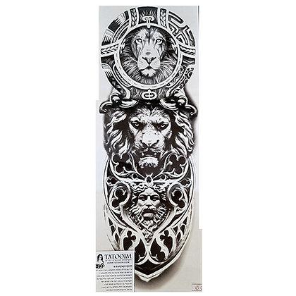 tribal lion statue tattoo | שרוול אריות פסל טרייבל