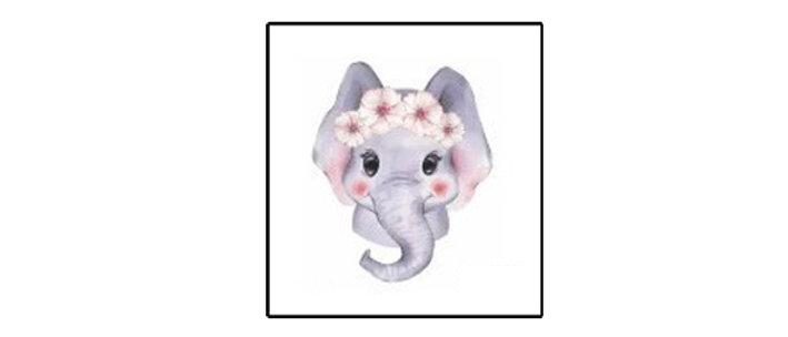 elephant cute Temp tattoo |  קעקוע זמני פיל