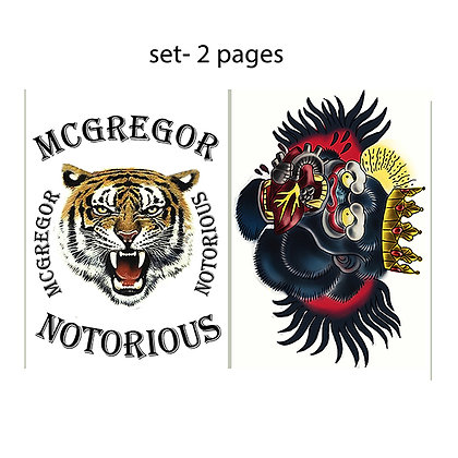 Conor McGregor temporary tattoo set2   |  קונור מקגרגור