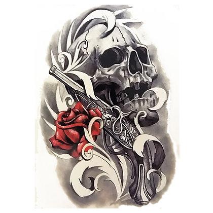 skull gun flower / גולגולת אקדח פרח