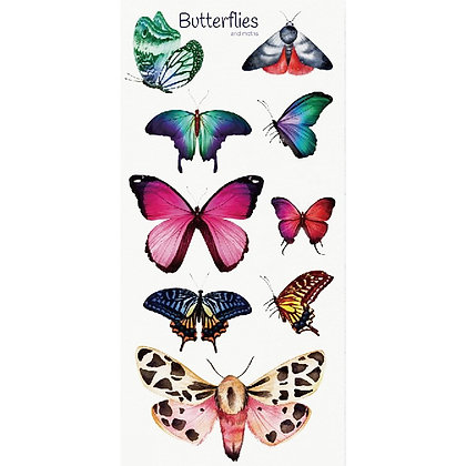 Butterfly colored temporary tattoo  פרפרים צבעוני