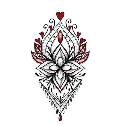 jewl mandela temporary tattoo |  קעקוע זמני תכשיט מנדלה