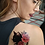 Thumbnail: cat roses tattoo | חתול שחור פרח