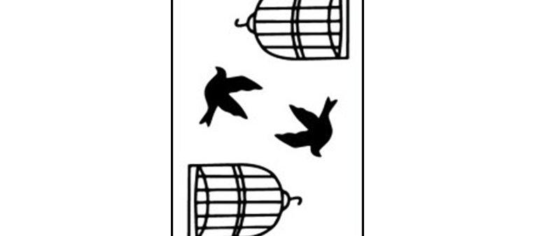 bird cage  temp tattoo /ציפור כלוב