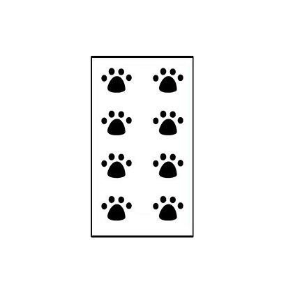 cat dog steps temp tattoo /  צעדי חתול וכלב