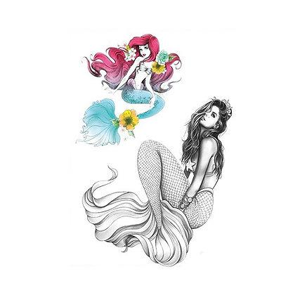 mermid temp tatto |  קעקוע זמני בתולת ים