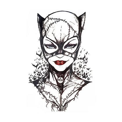 CatWoman temporary tattoo | קעקוע זמני  סקסי אשת חתול