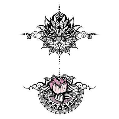 henna style hand decoration| קישוט חזה ויד דמוי חינה