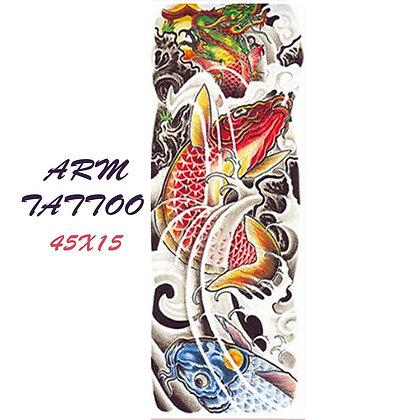 fish sleeve tattoo | שרוול דגים צבעוני
