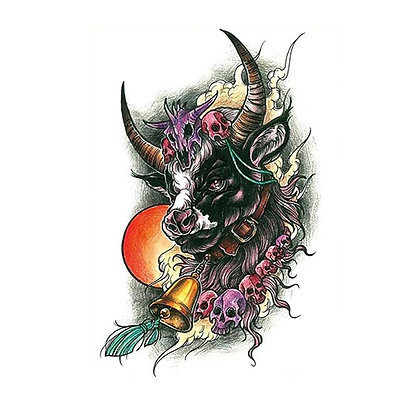 Bull temporary tattoo | קעקוע זמני שור