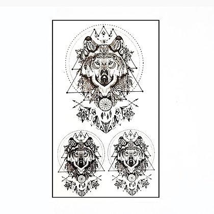 Wolf small tattoo    זאב גיאומטרי