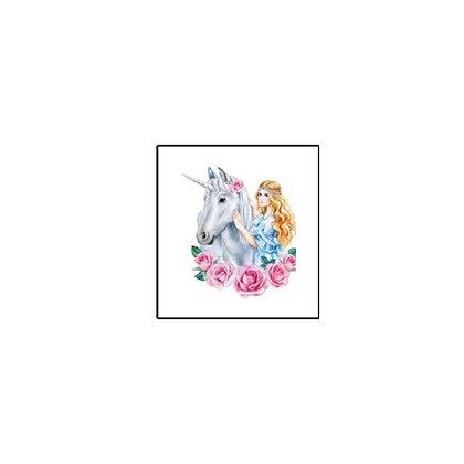 unicorn princess Temp tattoo   קעקוע זמני חד קרן2