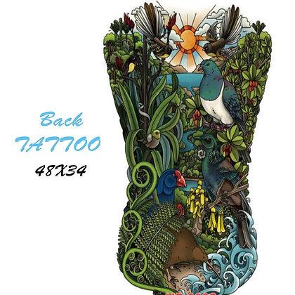 big back/chess tattoo peacock |קעקוע גב או ירך ענק טווסי גונגל