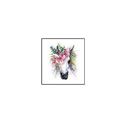 unicorn flower Temp tattoo | קעקוע זמני חד קרן1