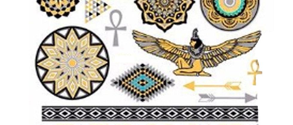 gold tattoo styletemp tattoos |   קעקועי זהב מנדלות
