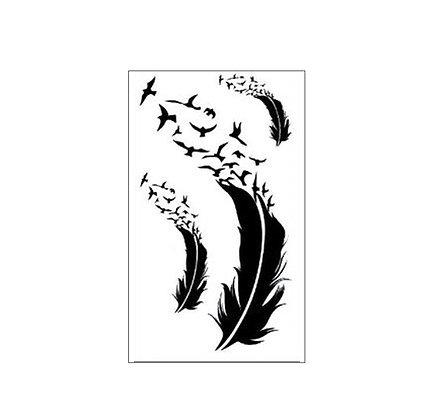 Birds Feathers tattoo | נוצות ציפורים