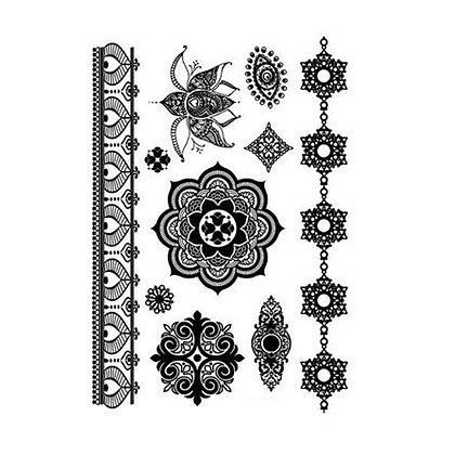 black henna style mandea |קעקוע דמוי חינה מנדלה