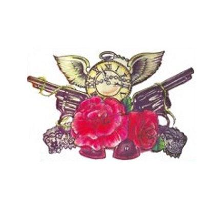 guns&roses temp tattoo   רובים ושושנים