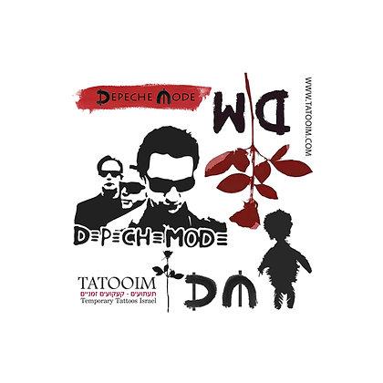 Depeche mode mode temporary tattoo|קעקוע זמני דפש מוד