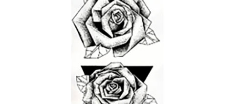 Small black flowers / קעקוע פרחים