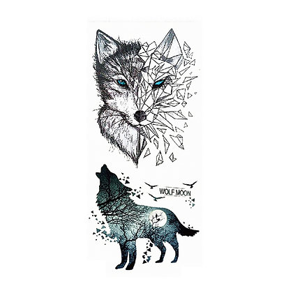 2 wolfs temp tattoo | שני זאבים