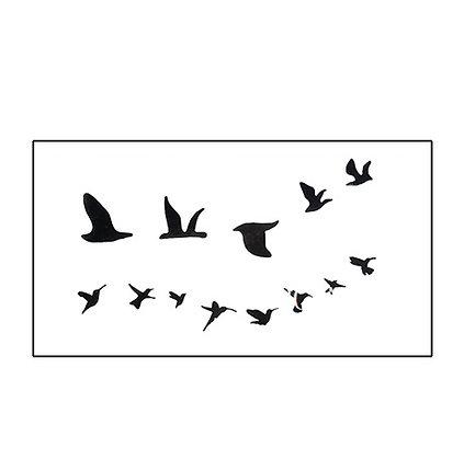 Birds temp tattoo | קעקוע זמני ציפורים