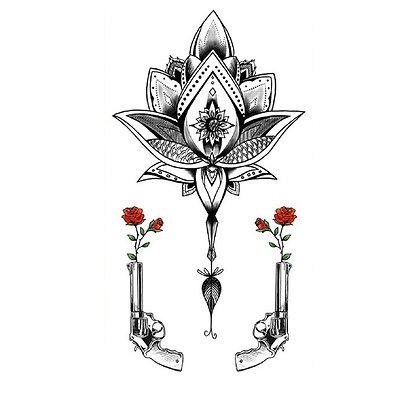 Mandala guns temp tattoo | קעקוע זמני מנדלה אקדחים
