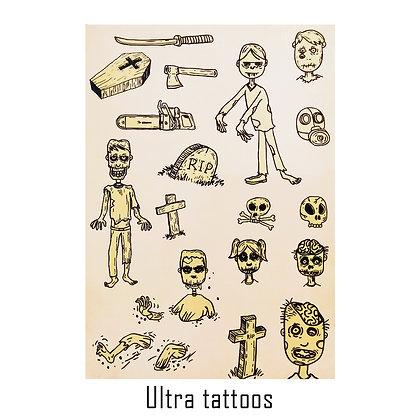 Ultra mix2 temporary tattoo | קעקועי אולטרא אוסף 2