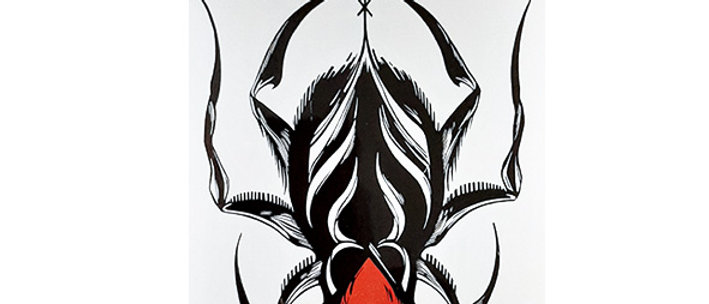spider red heart temporary tattoo   עכביש לב אדום