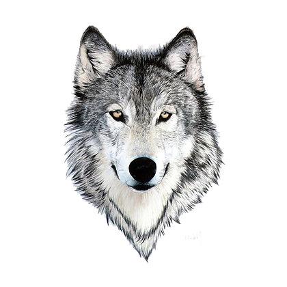 husky dog small tattoo/האסקי