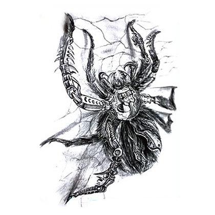 Spider tattoo|עכביש קורים