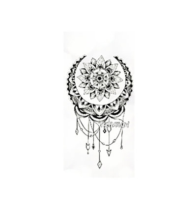 mandala flower small temp tattoo | מנדלה תכשיט
