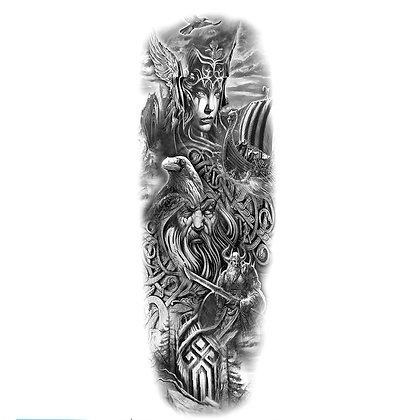 Knights sleeve tattoo | קעקוע שרוול לוחמים אבירים